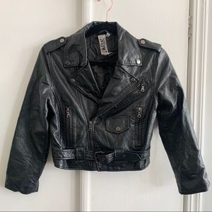 Rare! Widow Faux Leather Cropped Jacket